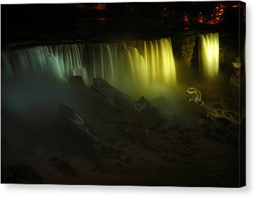 American Falls Night View Canvas Print by Rick Couper
