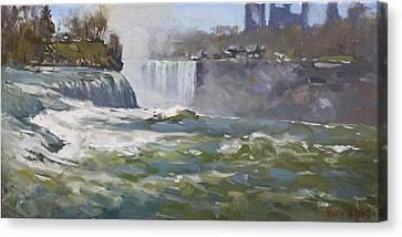 American Falls Canvas Print by Ylli Haruni