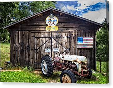 American Farm Canvas Print by Debra and Dave Vanderlaan