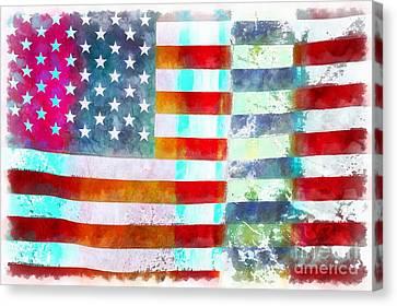 American Flag Canvas Print by Edward Fielding