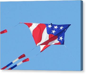 American Flag Kite Canvas Print by Gregory Smith