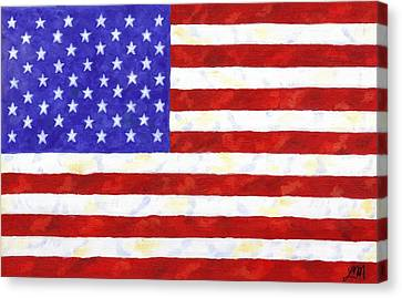 American Flag Canvas Print by Linda Mears