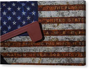 American Flag Mail Box Canvas Print by Garry Gay