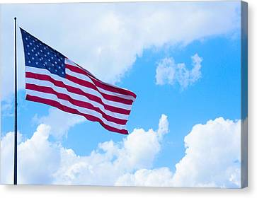American Flag  Canvas Print by Art Spectrum