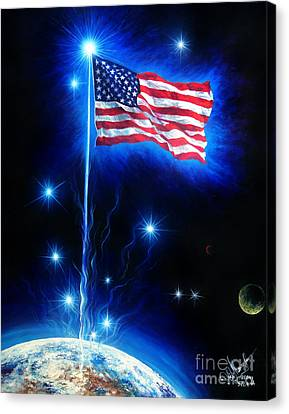 American Flag. The Star Spangled Banner Canvas Print by Sofia Metal Queen