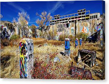 American Flat Mill Vc Canvas Print by Scott McGuire