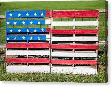 Pallet Canvas Print - American Folk Art by Todd Klassy