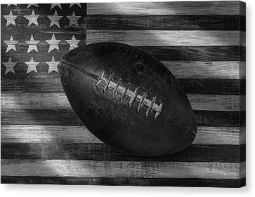 American Football Black And White Canvas Print by Garry Gay