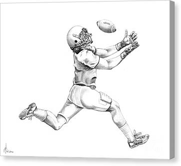 American Football Canvas Print by Murphy Elliott