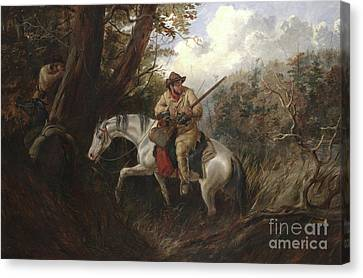 American Frontier Life Canvas Print by Arthur Fitzwilliam Tait