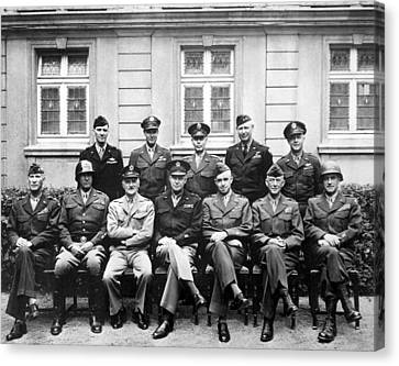Ww2 Canvas Print - American Generals Wwii  by War Is Hell Store