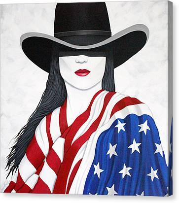 American Girl Canvas Print by Lance Headlee