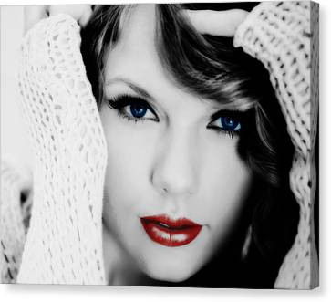 American Girl Taylor Swift Canvas Print by Brian Reaves