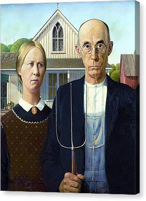 American Gothic Canvas Print by Pg Reproductions