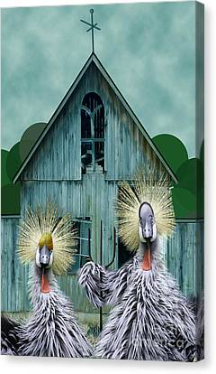 American Gothic Revisisted  Canvas Print by Lois Mountz