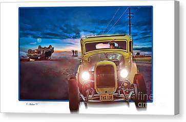 American Graffiti Paradise Road Canvas Print by CoolnessSixtyEightArt