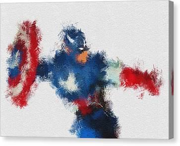 Super Heroes Canvas Print - American Hero 2 by Miranda Sether