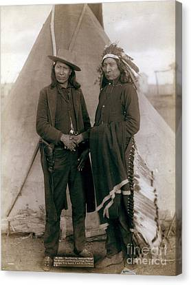 American Horse And Red Cloud, Indian Canvas Print by Science Source