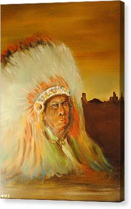 American Indian Canvas Print by James Higgins