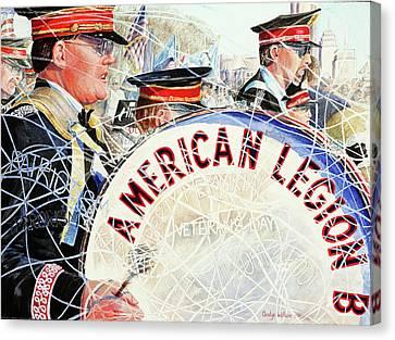 American Legion Canvas Print by Carolyn Coffey Wallace