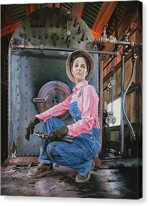 Boiler Canvas Print - American Made by Lee Alban