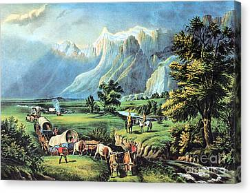 American Manifest Destiny, 19th Century Canvas Print by Photo Researchers