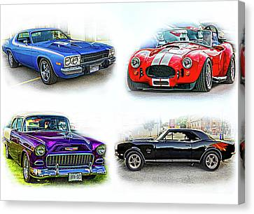 American Muscle Collage Canvas Print