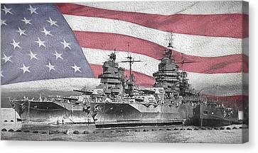 Canvas Print featuring the digital art American Naval Power by JC Findley
