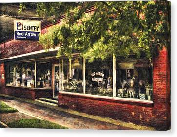 Store Fronts Canvas Print - American Nostalgia by Marc Parker