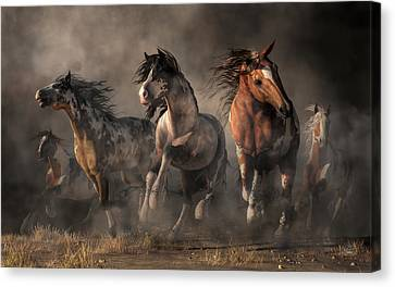American Paint Horses Canvas Print