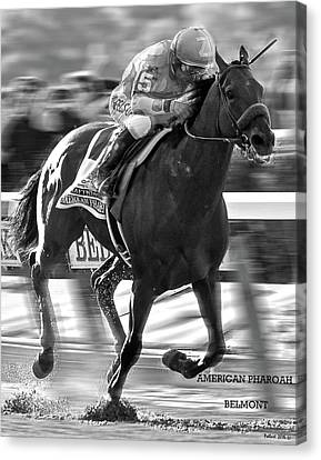 Computing Canvas Print - American Pharoah And Victor Espinoza Win The 2015 Belmont Stakes by Thomas Pollart