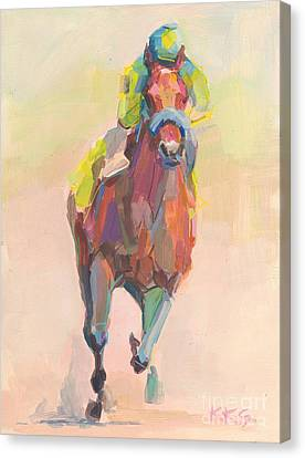 Champion Canvas Print by Kimberly Santini
