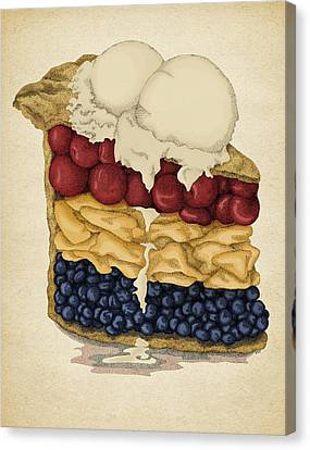 Canvas Print featuring the drawing American Pie by Meg Shearer