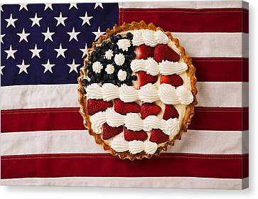 American Pie On American Flag  Canvas Print by Garry Gay