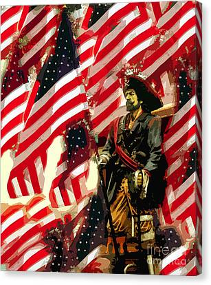 American Pirate Canvas Print by David Lee Thompson