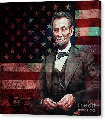 American President Abraham Lincoln 01 Canvas Print by Gull G
