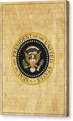 Potus Canvas Print - American Presidents by Andrew Fare