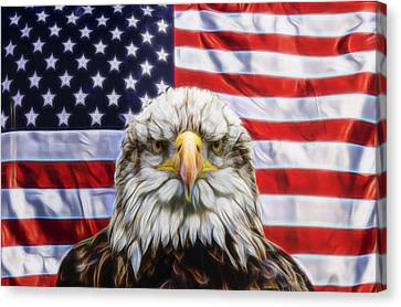 Canvas Print featuring the photograph American Pride by Scott Carruthers