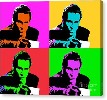 American Psycho Pop Art Canvas Print