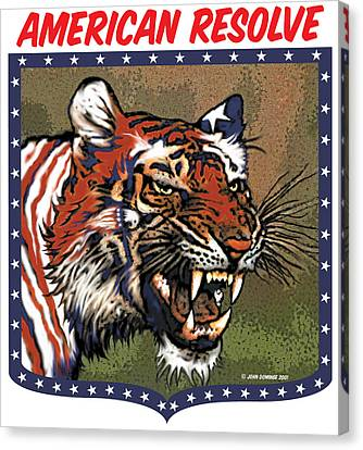 American Resolve Canvas Print