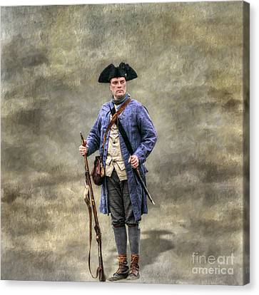 American Revolution Colonial Militia Soldier Canvas Print by Randy Steele