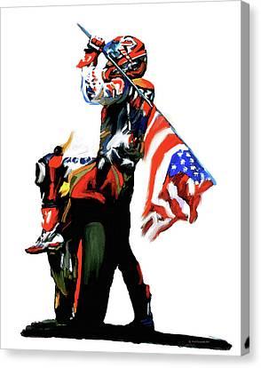 American Revolution Four Nicky Hayden Canvas Print