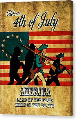 American Revolution Soldier Vintage Canvas Print