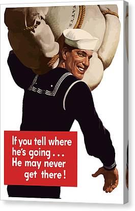 American Sailor -- Ww2 Propaganda Canvas Print by War Is Hell Store