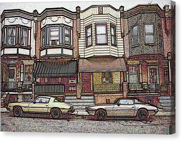American City Street Architecture Canvas Print by Art America Online Gallery