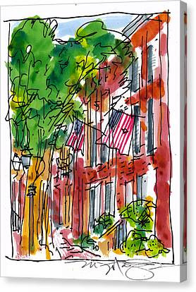 American Street Philadelphia Canvas Print by Marilyn MacGregor