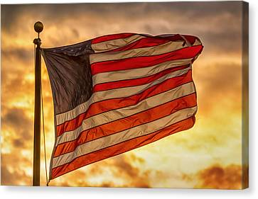 American Sunset On Fire Canvas Print by James BO Insogna