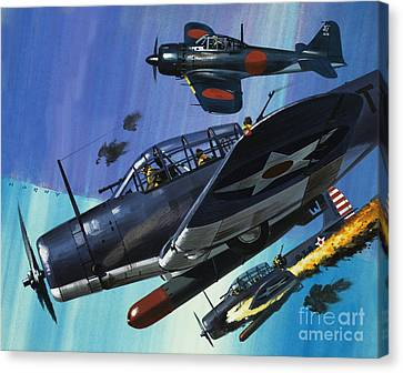 American Torpedo Planes Of World War Two Canvas Print by Wilf Hardy