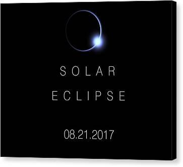 American Total Solar Eclipse 2017 Canvas Print