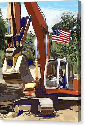 American Tractor Canvas Print by Brad Burns